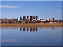 NS4870 : Inlet at Newshot Island, River Clyde by wfmillar