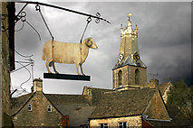 SO8700 : Minchinhampton Church from Ram Inn by Mike Baldwin