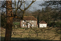 TQ5365 : The Cottage, New Barn Farm seen from the Darent Valley Path by N Chadwick
