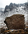 NG7943 : Big rock below A' Chioch by Toby Speight