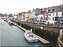 SY6778 : Pontoon, Weymouth harbour by Roger Cornfoot