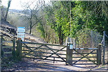 SU4827 : Gateway at St.Catherine's Hill, Winchester by Peter Trimming
