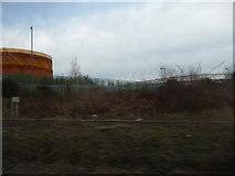 SU4212 : Southampton : Bushes & Stadium by Lewis Clarke