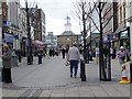 NZ3667 : A busy lunchtime in King Street, South Shields by Christine Johnstone