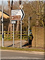 SU0705 : Three Legged Cross: signs on Ringwood Road by Chris Downer