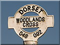 SU0409 : Woodlands: finger-post detail by Chris Downer