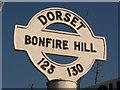 SU1213 : Alderholt: detail of Bonfire Hill finger-post by Chris Downer