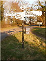 ST9901 : Pamphill: repaired signpost at Hillbutts by Chris Downer