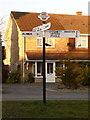 SY9495 : Lytchett Matravers: Higher Cross finger-post by Chris Downer