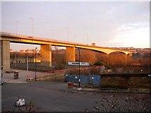 NZ2463 : Evening light on Redheugh Bridge by Andrew Curtis