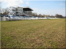 SO8455 : The grandstand, Pitchcroft by Philip Halling