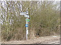 TM3468 : Roadsign on Bruisyard Road by Adrian Cable
