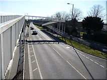 SZ0894 : Bournemouth : Boundary Road & Footbridge by Lewis Clarke