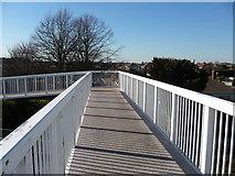 SZ0894 : Bournemouth : Boundary Road Footbridge by Lewis Clarke