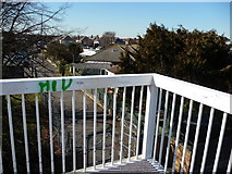 SZ0894 : Bournemouth : Footbridge over Boundary Road by Lewis Clarke