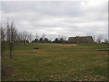 SU6154 : Weybrook Park Golf Club - club house by Sandy B