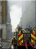 TQ3282 : Fire fighting in Shoreditch by Stephen McKay