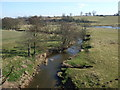 SJ6544 : River Weaver viewed from the aqueduct bridge by Richard Hoare