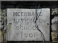 H1098 : Plaque, Meenbane National School by Kenneth  Allen
