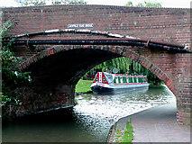 SK1705 : Lichfield Road Bridge at Hopwas, Staffordshire by Roger  Kidd