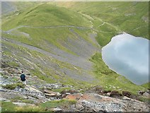 NY3228 : Scales Tarn and the descent to Sharp Edge by Bill Boaden