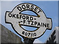 ST8010 : Okeford Fitzpaine: detail of finger-post by Chris Downer
