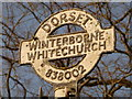 ST8300 : Winterborne Whitechurch: signpost close-up by Chris Downer