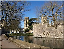 ST5545 : Moat, bastion and cathedral, Wells by Derek Harper