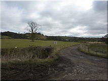 SK2850 : Track to Norman Hill Farm by Peter Barr