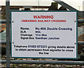 TG4002 : Level Crossing No. 40A Double Crossing (sign) by Evelyn Simak