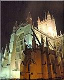 ST7564 : Bath Abbey by night by Derek Harper