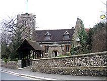 TQ1289 : St John the Baptist, Church Lane, Pinner by John Salmon