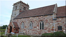 SJ5608 : St. Andrews Church Wroxeter by Peter Comeau