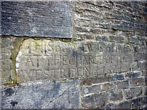 SE0361 : Inscription on the bridge at Burnsall by Karl and Ali