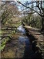 SX0854 : Drain, Treesmill Valley by Derek Harper