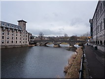 SD5193 : River Kent with Stramongate Bridge by Alexander P Kapp