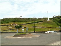 NX3343 : Roundabout in front of Maxwell Park by Rose and Trev Clough