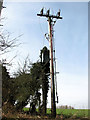 TL9990 : Electricity pole and transformer in Wash Lane by Evelyn Simak
