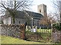 TL9991 : All Saints church in Snetterton by Evelyn Simak