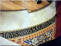 SJ3490 : The motto of Liverpool, St George's Hall floor by Karl and Ali