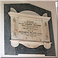 TM1579 : The church of St Andrew in Scole - C19 memorial by Evelyn Simak