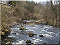 NS7883 : The River Carron, viewed from footbridge by Lairich Rig