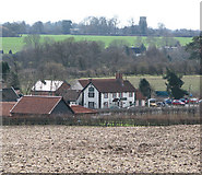 TM1678 : Houses in Billingford by Evelyn Simak