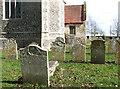TM1679 : The church of St Leonard in Billingford - churchyard by Evelyn Simak