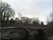 TR0650 : A28 Canterbury Road bridge over the Great Stour River by David Anstiss