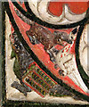 TM1682 : All Saints church in Dickleburgh - rood screen panel (detail) by Evelyn Simak