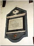 TM1682 : All Saints church in Dickleburgh - wall memorial by Evelyn Simak