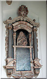 TM1682 : All Saints church in Dickleburgh - wall monument by Evelyn Simak