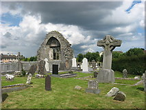 O0598 : Church and High Cross at Dromiskin, Co. Louth by Kieran Campbell