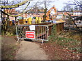 TM3877 : Footpath over New Reach Closed by Adrian Cable